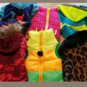 XS dog clothes bundle of 6 jackets